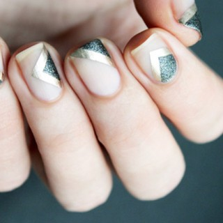 elegant negative space manicure tutorial