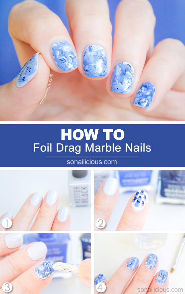 marble nails how to