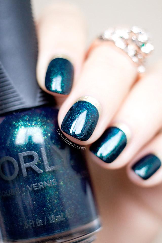 Elegant Christmas Nails Idea Ruffian Manicure