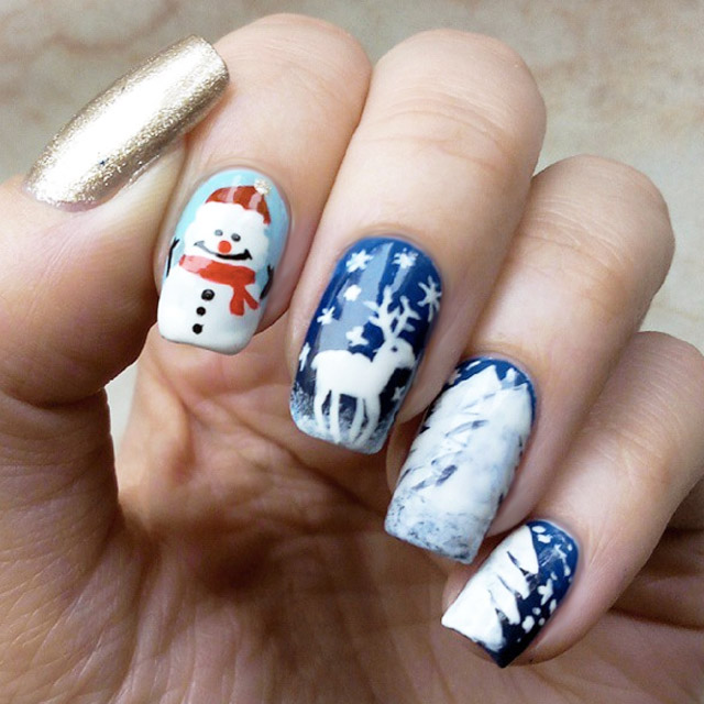Winter Wonderland nail art by @mrs_virge.nails