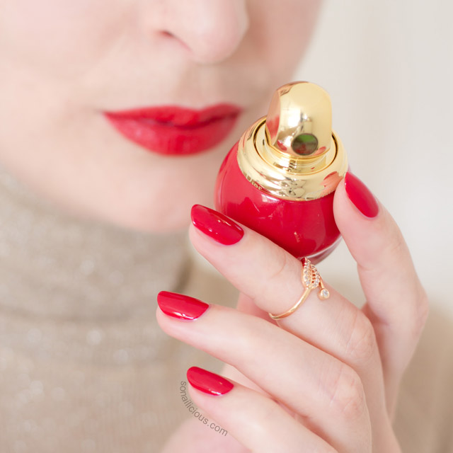 diorfic golden shock red polish