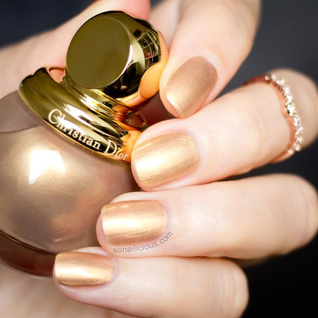 diorific gold polish swatches
