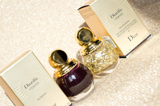 diorific golden shock and diorific vernis smoky