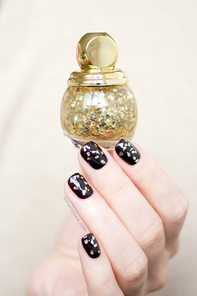 diorific vernis golden shock swatches review