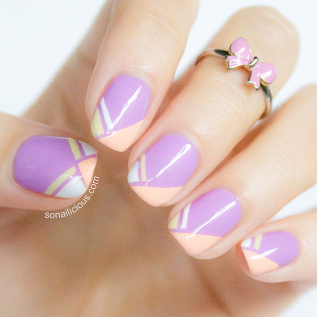french tips nail art tutorial