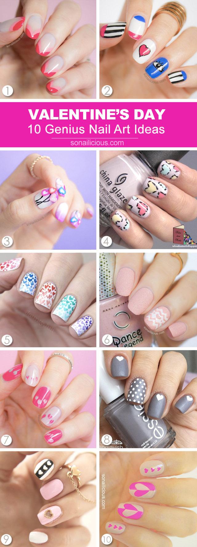 10 best valentines day nail art ideas