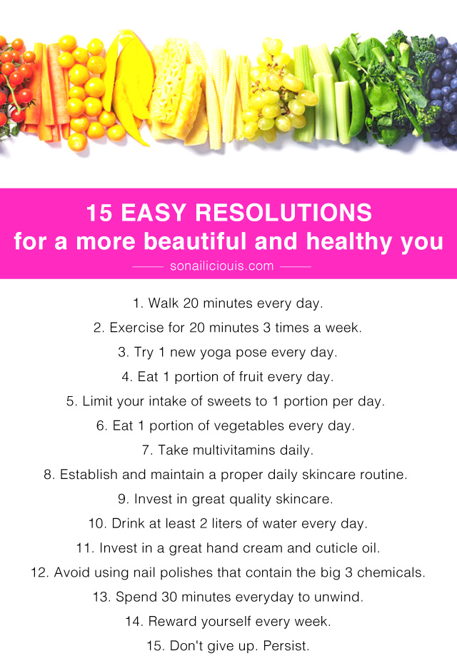 15 healthy new year resolutions