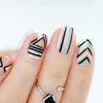 Negative Space New Year's Party Nails – 2014 Version