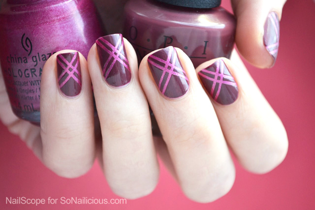 easy marsala nail art tutorial
