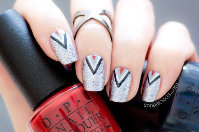 50 shades of grey nail art tutorial