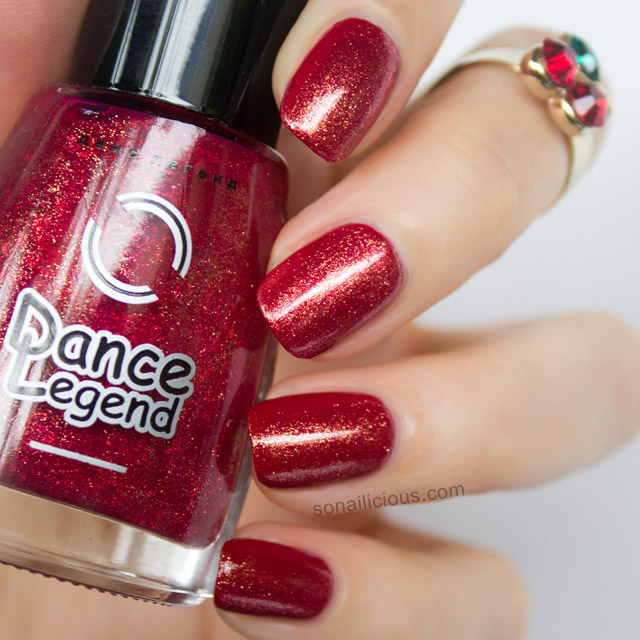 dance legend golden red nail polish swatch
