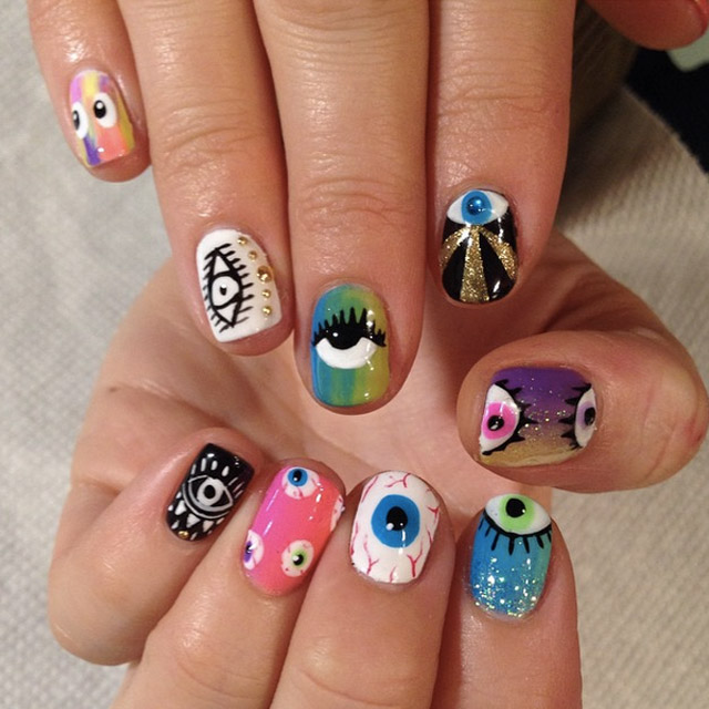 Eye nails by Mia @superflynails