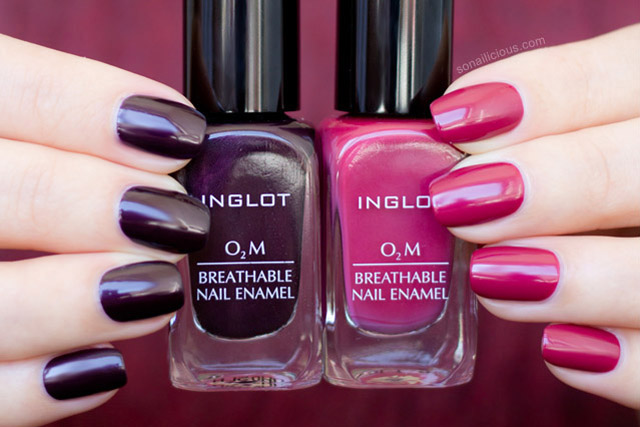 inglot o2m breathable nail polish review swatches