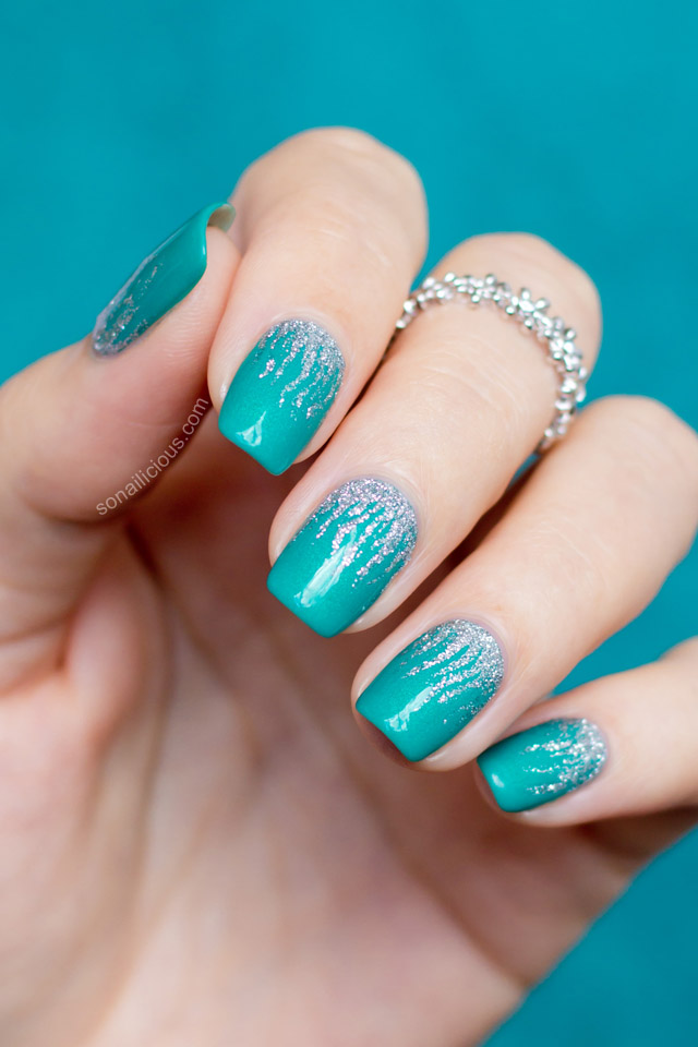 sea green nail art