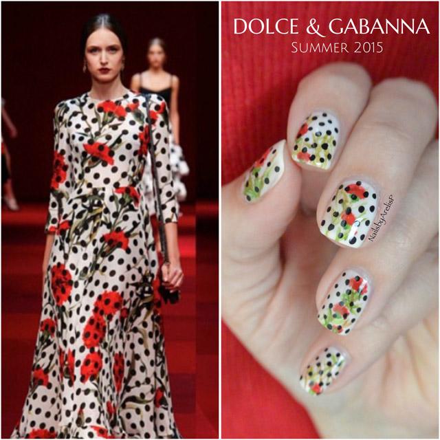 Dolce Gabbane manicure by @NailsByArelisP