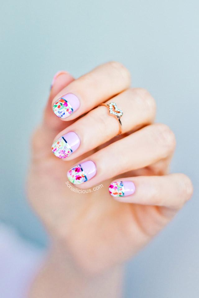 Floral spring nail art