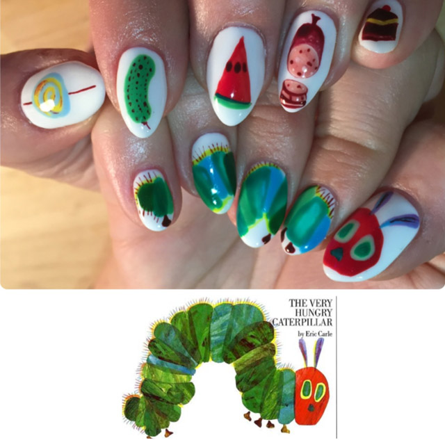 Hungry caterpillar nails by Nails By Mei