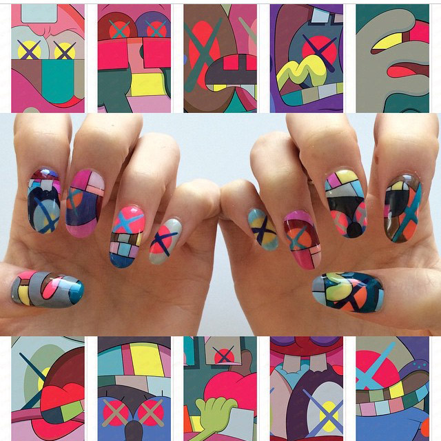 Retro print nails by Mei