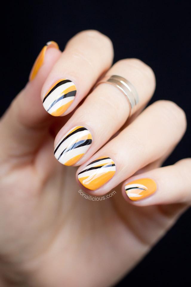 abstract print nails
