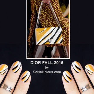 dior bag fall 2015 abstract print nails by @so_nailicious