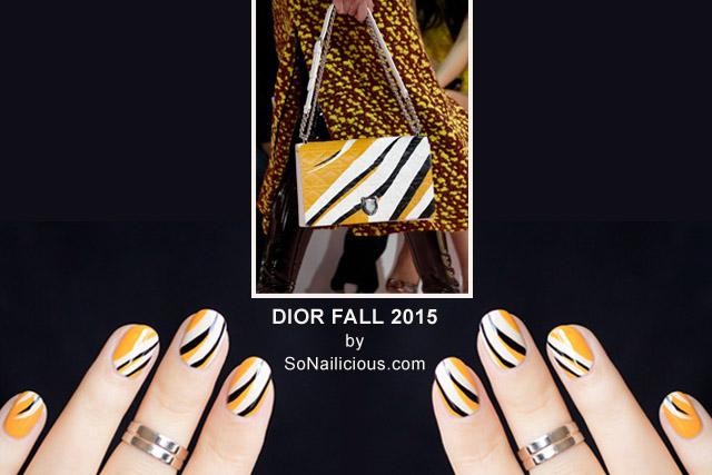 dior bag fall 2015 abstract print nails by @so_nailicious