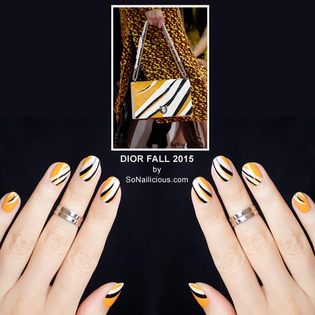 dior bag fall 2015 nails by @so_nailicious