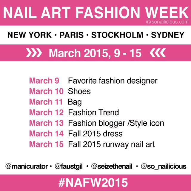 nail art fashion week with @SoNailicious