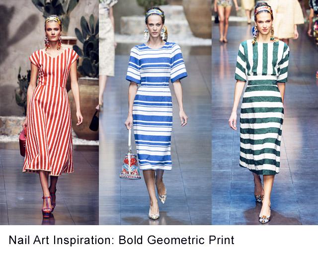 nail art inspiration bold geometric print copy