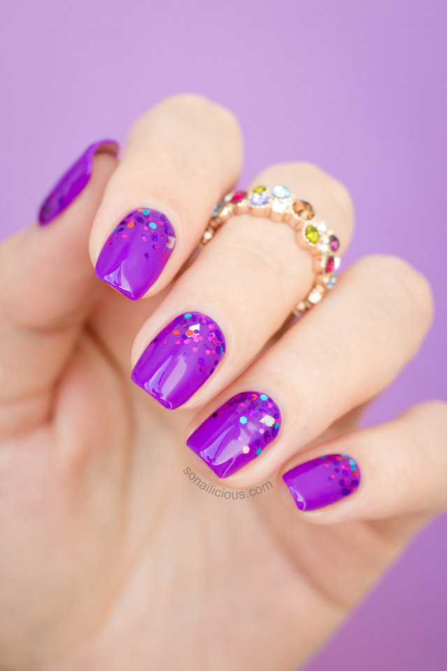 purple gradient nails by @sonailicious