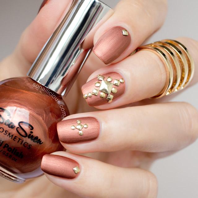 sea siren bronzed siren studded nails