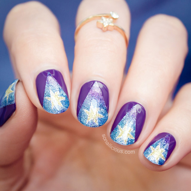 twinkle twinkles little star nails