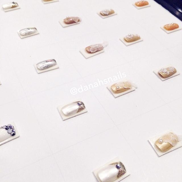 Danah Alfares' Bridal nail designs for Bespoke event