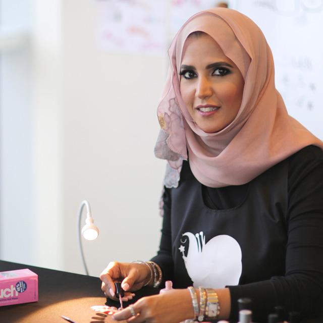 Danah Alfares, freelance nail artist, Kuwait