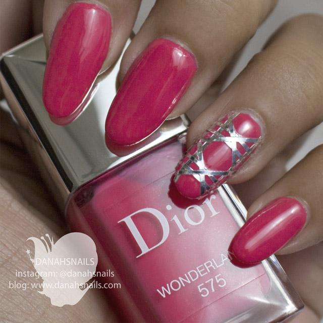 Dior nails by Danah Alfares