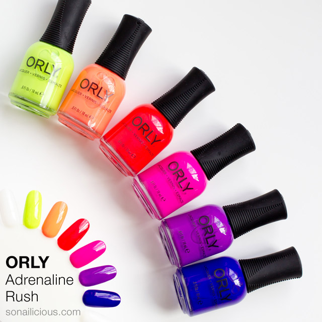 Orly Adrenaline Rush collection review