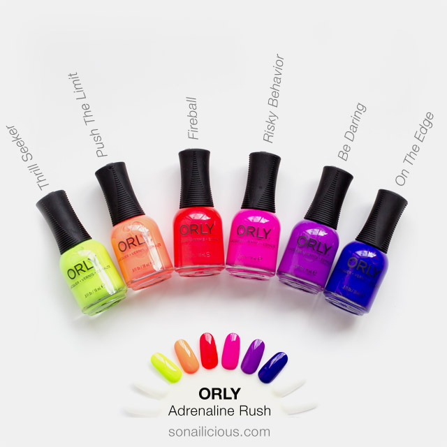 Orly Adrenaline Rush nail polish collection review