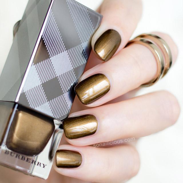 gold nails burberry antique gold nail polish