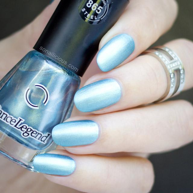 blue matte metallic polish 1
