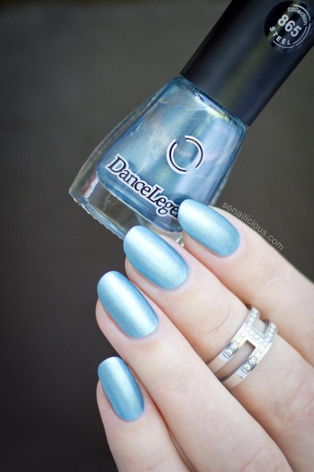 blue matte metallic polish