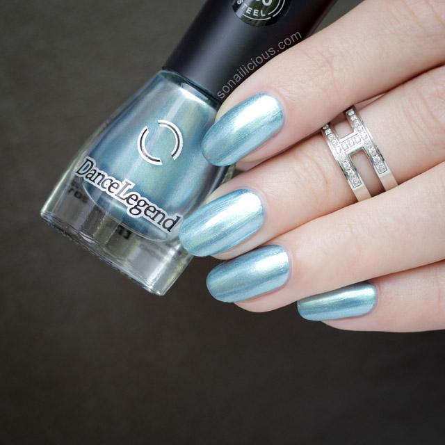 dance legend steel blue metallic polish 4
