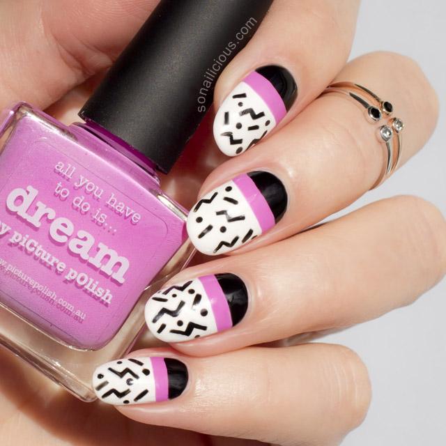 pop art nails picture polish dream