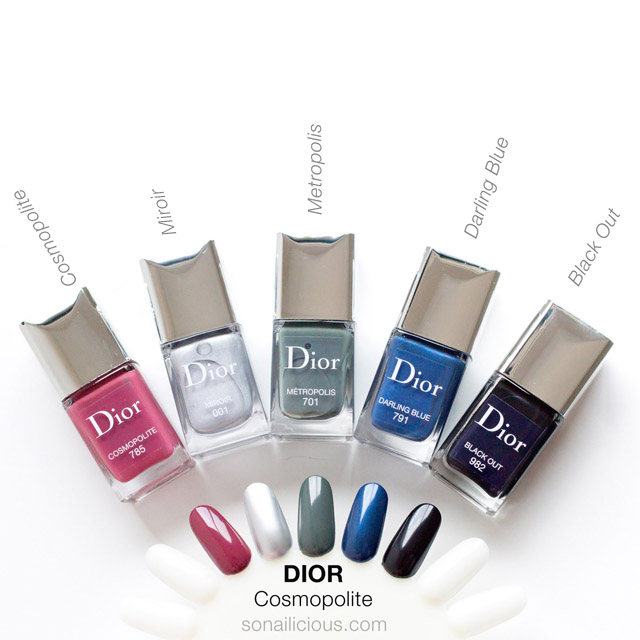 DIOR Cosmopolite polish swatches