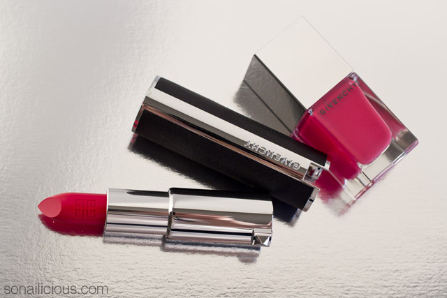 givenchy rouge egerie lipstick and givenchy croisiere sensation