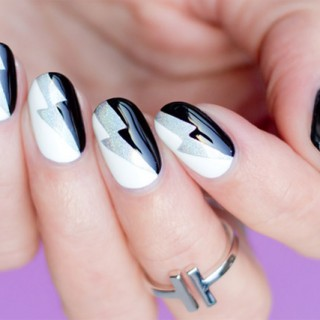 black and white nail art tutorial 1
