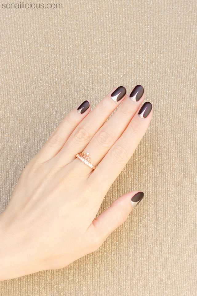 elegant nail art for short nails