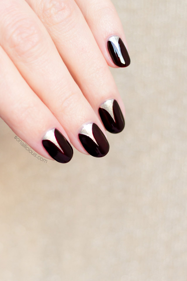 elegant nail art, short nails