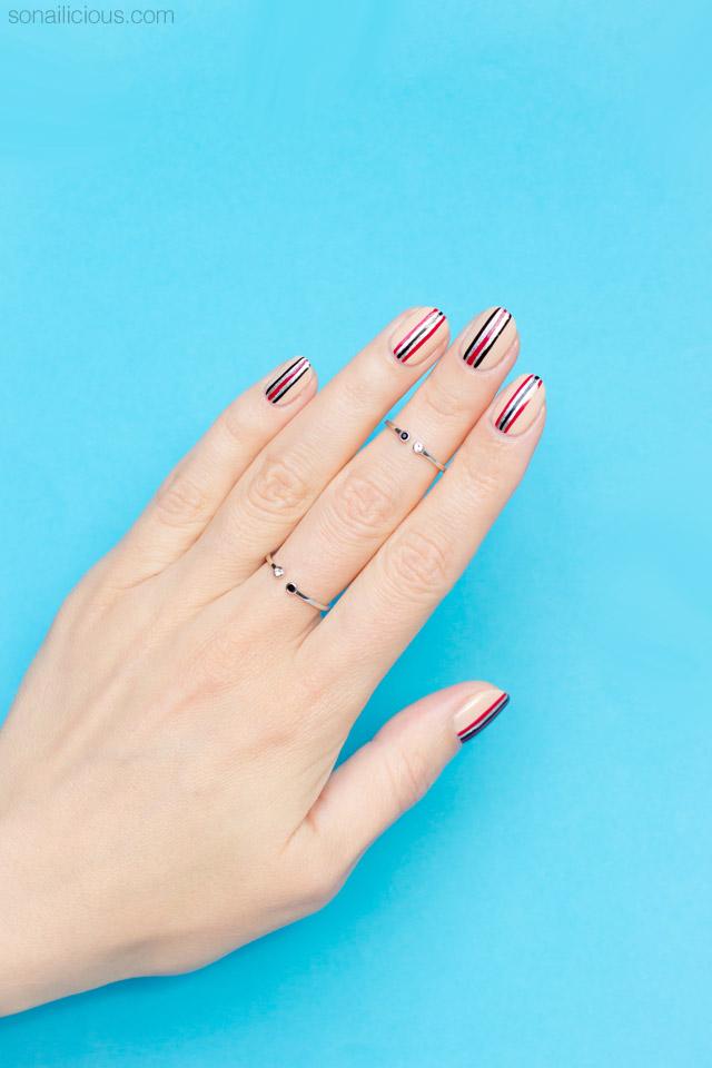 minimalist nail art for short nails