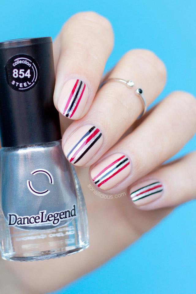 minimalist nail art, Dance Legend Katana
