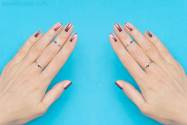 minimalist nail art for short nails