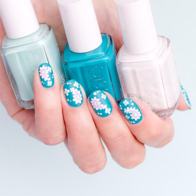 nail art essie blossom dandy - SoNailicious